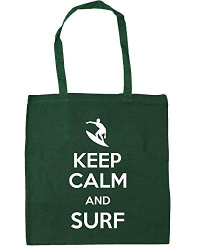HippoWarehouse - Bolsa de playa de Algodón  Mujer verde oscuro