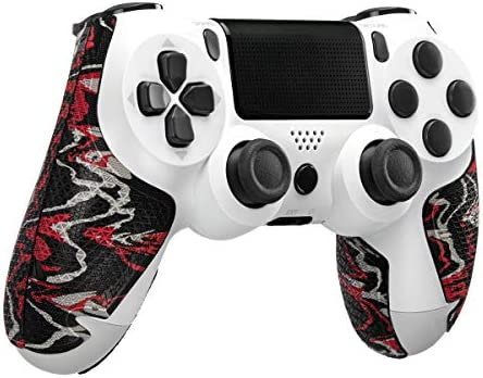 Lizard Skins DSP Controller Grip for PS4 Controllers – PS4 Gaming Grip – Playstation 4 Compatible Grip 0.5mm Thickness – PRE Cut Pieces – Easy to Install – 10 Colors (Wildfire Camo)