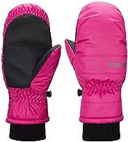 SNOTEK Kids Winter Mitts for Ski, Snowboard, Premium Kids Winter Mittens (ST30M FUCHSIA, L)