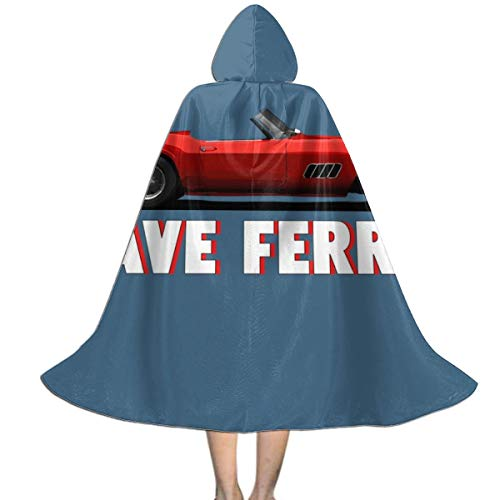Ferris Buellers Day Off Save Ferris Movie Quote Unisex Hooded Cloak Cape Halloween Party Decoration Role Cosplay Costumes ()