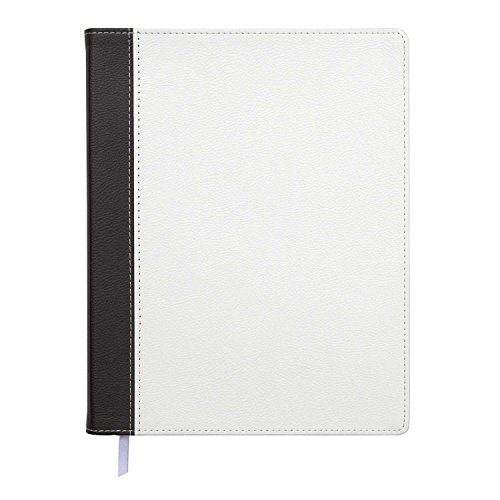 Black Leatherette Notebook (C.R. Gibson J82-17857 Leatherette Flex Journal, 8