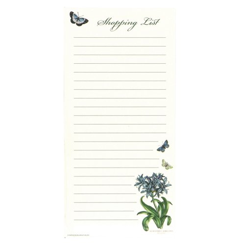 "C.R. Gibson Magnetic, 75 Sheet, Shopping List Pad, Perfect For Notes & Doodles, Measures 4.5"" x 9.25"" - Botanic Garden"