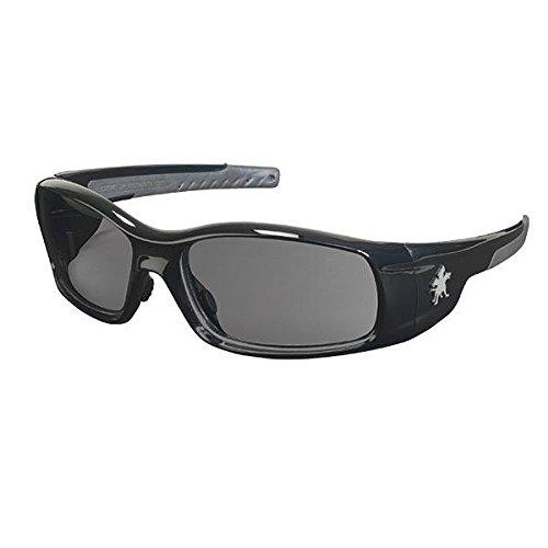 MCR Safety Swagger Eyewear, Black Frame, Gray Lens (17 Pack)