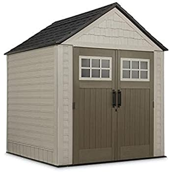 Big Max Storage Shed Great for storing riding mowers lawn garden equipment ~Includes tool u0026 sports rack utility u0026 handle hook  sc 1 st  Amazon.com & Amazon.com : Sutton 7 ft. 3 in. x 7 ft. 4.5 in. Resin Storage Shed ...