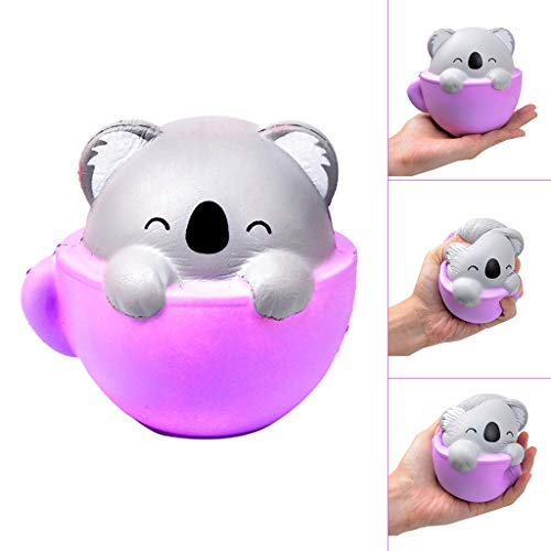 2019HoHo Anti Stress Anxiety Toys for Adults Kids Squeeze Squishy Stress Relief Toys Vent Toys Cute Teacup Koala ()