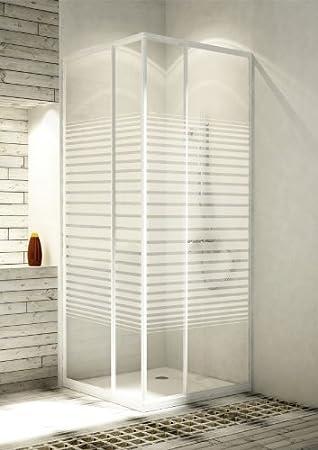 Einzigartig Eckeinstieg Duschkabine Echtglas Sicherheitsglas mit Streifen  QY54