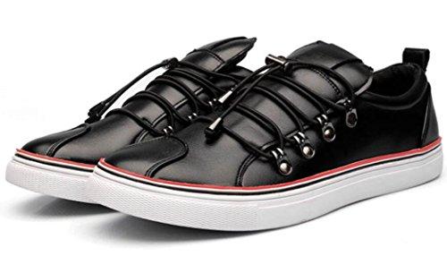 DHFUD Printemps Haute Aide Chaussures Chaussures Occasionnels Martin Bottes Bottes Hommes Respirant Chaussures BlackHigh vt6OeEm