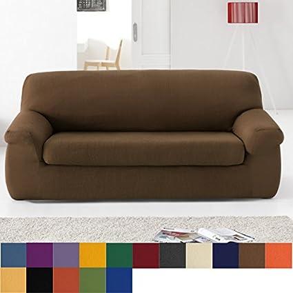 Funda de Sofá Elástica con el Cojín Separado Modelo Libia, Color Negro, Medida 2 Plazas · 120-190cm