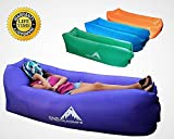RNS Direct [Upgraded] Easy Inflate Blow Up Couch Inflatable Air Lounger Sleeping Bag Portable Lazy Sofa Waterproof Swimming Pool Float Wind Pouch Lounge Chair Camping Festivals Beach Sleepover