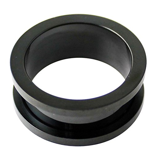 3/4 Inch - 20MM Black Anodized 316L Surgical Steel Screw Fit Flesh Tunnels ()