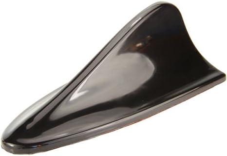 Phil Trade Haifisch Dach Antenne Dummy Shark Fin Haiantenne Design Deko Attrappe Schwarz Auto