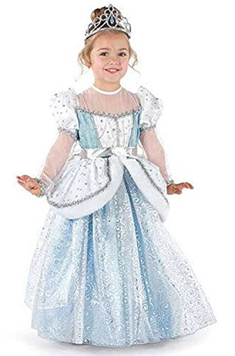 [AOVCLKID Kids Children Girls Cinderella Princess Palace Outfit Party Dress] (Cinderella Dress Up)