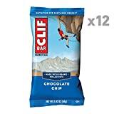 CLIF BAR - Energy Bars - Chocolate Chip - (2.4 Ounce Protein Bars, 12 Count)