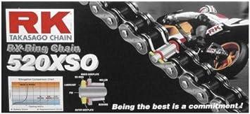 New RK 520XSO Chain 120 Link for Kawasaki KDX 200 84-06 KL 250 Super Sherpa 00-04 09 10 85-05 KLR KDX 250 91-94 KFX 450 R 08-14 KDX 220 97-05 KEF 300 A Lakota 95-03 KL 250