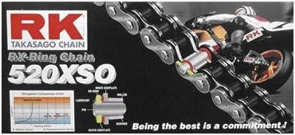 New RK 520XSO Chain 120 Link for Honda ATC 185 S 80-83, ATC 200 81-83, ATC 200 E 82-83, ATC 200 M 84-85, ATC 200 S 84-86, ATC 200 X 83-87, ATC 250 R 81-86, ...