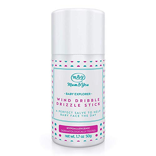 (Mum&You Baby Explorer Wind, Drizzle, Dribble Stick, 1 ea (1.7 oz), with Sunflower & Coconut Oils, Beeswax & Shea Butter- A Perfect Salve to Help Care for Your Baby's Face.)
