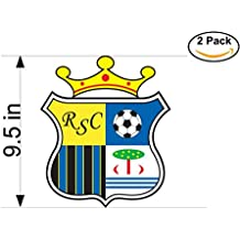 Real Sport Clube Massama Portugal Soccer Football Club FC 2 Stickers Car Bumper Window Sticker Decal Huge 9.5 inches