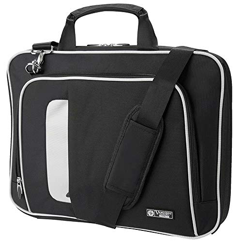 15.6 Inch Laptop Shoulder Bag with Trolley Strap Fit Lenovo Yoga 730, 720, Yoga ChromeBook, Legion Y730 Gaming, Y530 Gaming, Y520 Gaming, Y740, Y540, LG Gram 15.6 Inch, Fujitsu LifeBook E558, U758