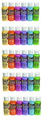 DecoArt DASK279 Crafter's Acrylics Home Décor Brights Sample Pack
