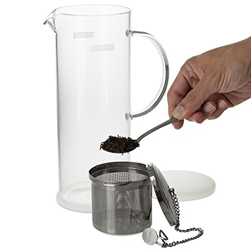 FORLIFE LUCENT Glass Iced Tea Jug with Capsule Infuser, 48-Ounce, Frost by FORLIFE (Image #3)