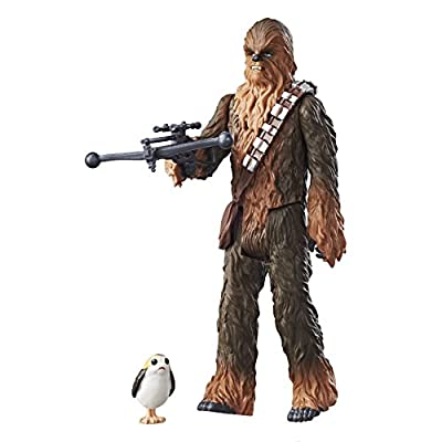 Star Wars: The Last Jedi Chewbacca with Porg Force Link Figure 3.75 Inches: Toys & Games