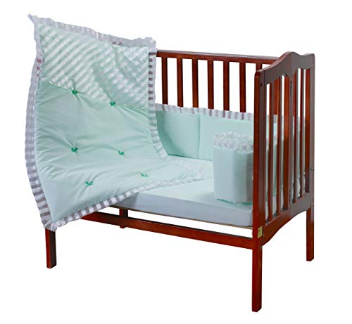 Baby Doll Candyland Mini Port-a-Crib Bedding Set, Mint (Candy Bedding)
