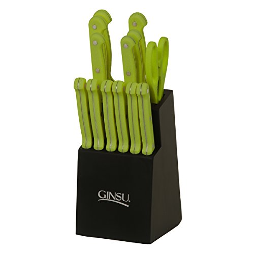 Ginsu Essential Series 14-Piece Stainless Steel Serrated Kni
