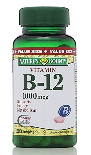 Nature's Bounty Vitamin B-12 Tablets - 200 count bottle (3 Pack)