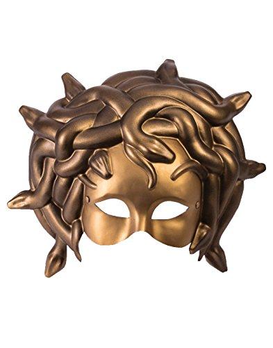 (Forum Novelties Party Supplies Unisex-Adults Mask-Medusa W/Elastic, Gold, Standard, Multi,)