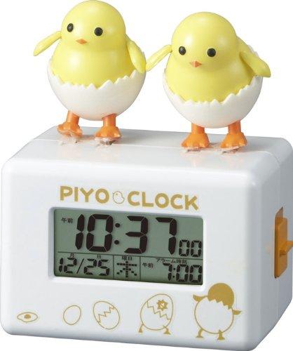 リズム時計 アクション目覚まし時計 ピヨクロック 8RDA61RH03 B00AJFCVB2