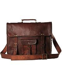 Handmadecart Leather Messenger Bag for Men and Women (17 inch)
