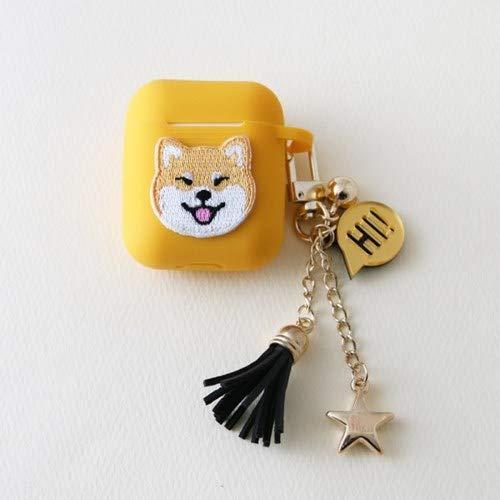 柴犬&ビションフリーズシリコンAirpodケース(キーリング付き) df  Shiba-Inu B07NVP88QR