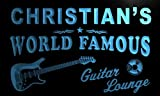 pf1564-b Christian's Guitar Lounge Beer Bar Pub Room Neon Light Sign