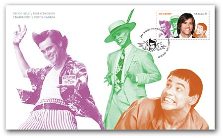 Bundle Canadian Comedians Collectible Five(5) Official First Day Covers, Day of Issue, Jim Carrey, Martin Short, Olivier Guimond, Mike Myers, Catherine O'Hara