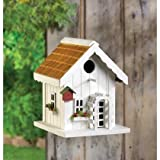 Wooden White Birdhouses Hummingbird Chickadee Birdhouse Patterns Outside Thatch Roof For Kids Ornament Plans Decorative