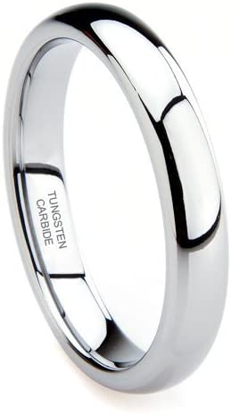 size 11 Plain TITANIUM Highly Polished Ring Band with Black Plated Accent Band