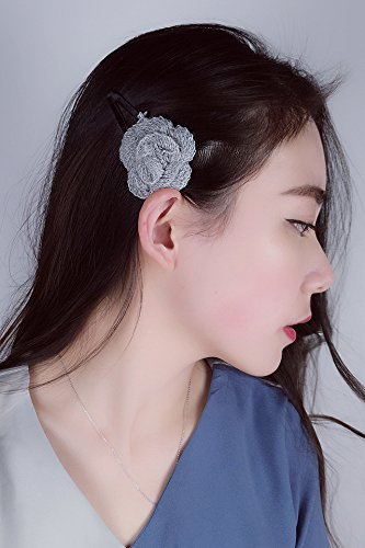 Trendy Fine Edge (Generic trendy_College_wind_manually_cashmere_ lovely _temperament_small_beauty_ flowers versatile_multi-layer_fine_ clip _Edge_ clip _Korean_style)