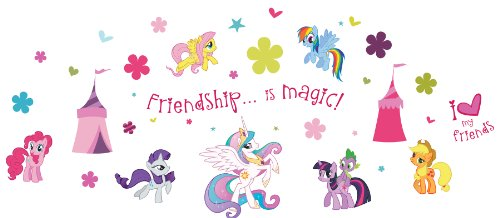- My Little Pony ST0634 ST0634 My Little Pony Wall Stickers, 39 reusable stickers