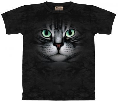 The Mountain Emerald Eyes Cat Face T-shirt