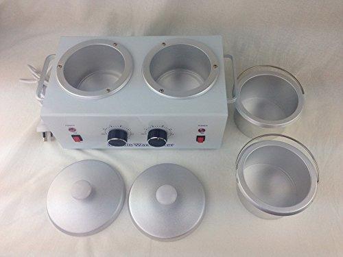 Huini Double Wax Warmer Professional Electric Heater Dual Parrafin Hot Facial Skin Equipment SPA Adjustable Temperature DT-009P