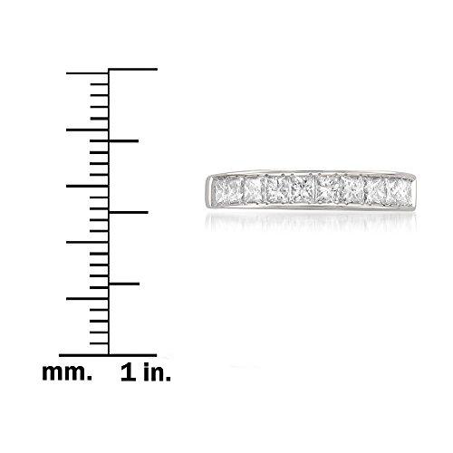 14k White Gold Princess-cut 11-Stone Diamond Bridal Wedding Band Ring (1 cttw, J-K, SI1-SI2), Size 8.5 by La4ve Diamonds (Image #3)
