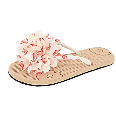 Women'szapatos Libo tal¨®n plano nuevo estilo casual Confort Flor Sunny Flip Flops sandalias negro / rosa US6.5-7 / EU37 / UK4.5-5 / CN37
