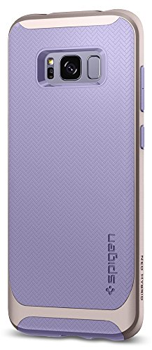 Spigen Neo Hybrid Galaxy S8 Case Herringbone with Flexible Inner Protection and Reinforced Hard Bumper Frame for Samsung Galaxy S8 (2017) - Violet