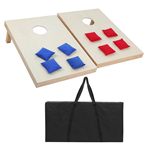 ZENY 3ft x 2ft Wooden Cornhole Set Bean Bag Toss Game Set Indoor Outdoor Backyard Games