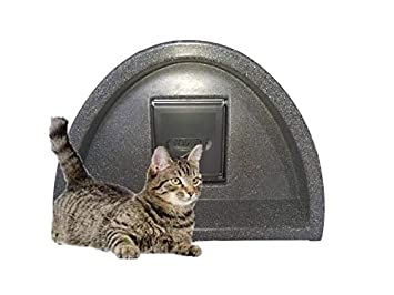 Cozy Cages casa de gato al aire libre con solapa redonda en gris: Amazon.es: Productos para mascotas