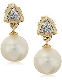 14k Gold 7.0-7.5mm Cultured Freshwater Pearl Drop Earrings