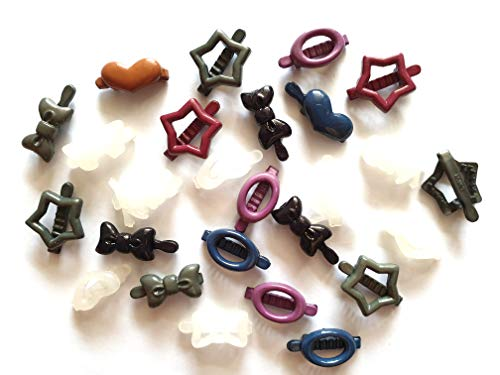- 20pcs MIx Assorted shape tiny Hair Claw Clips size 20 mm