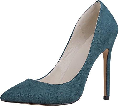 Calaier Kvinna Caeverybody Pekade Tå 10cm Stilett Slip-on Pumpar Skor Grönt