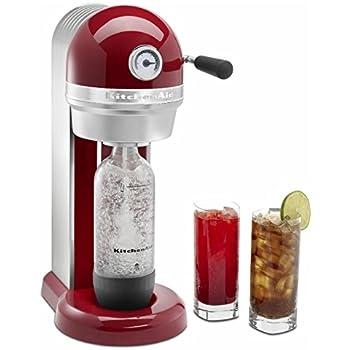 KitchenAid Empire Red Sparkling Beverage Maker Powered by SodaStream