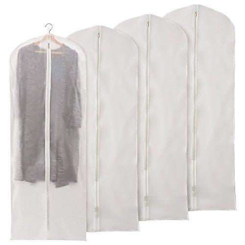 EZOWare 60 inch Garment Bag, Clear Foldable Breathable Garment Suit Shirt Dress Jacket Coat Dust Cover Travel Bag - Set of - Sets Bags Luggage Garment